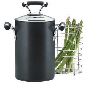 Circulon hard anodized steamer asparagus pot