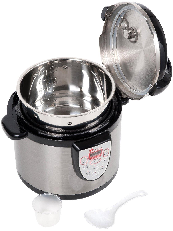 Secura 6 In 1 Electric Pressure Cooker Stainless Steel Digital Steamer Rice Slow Best Food