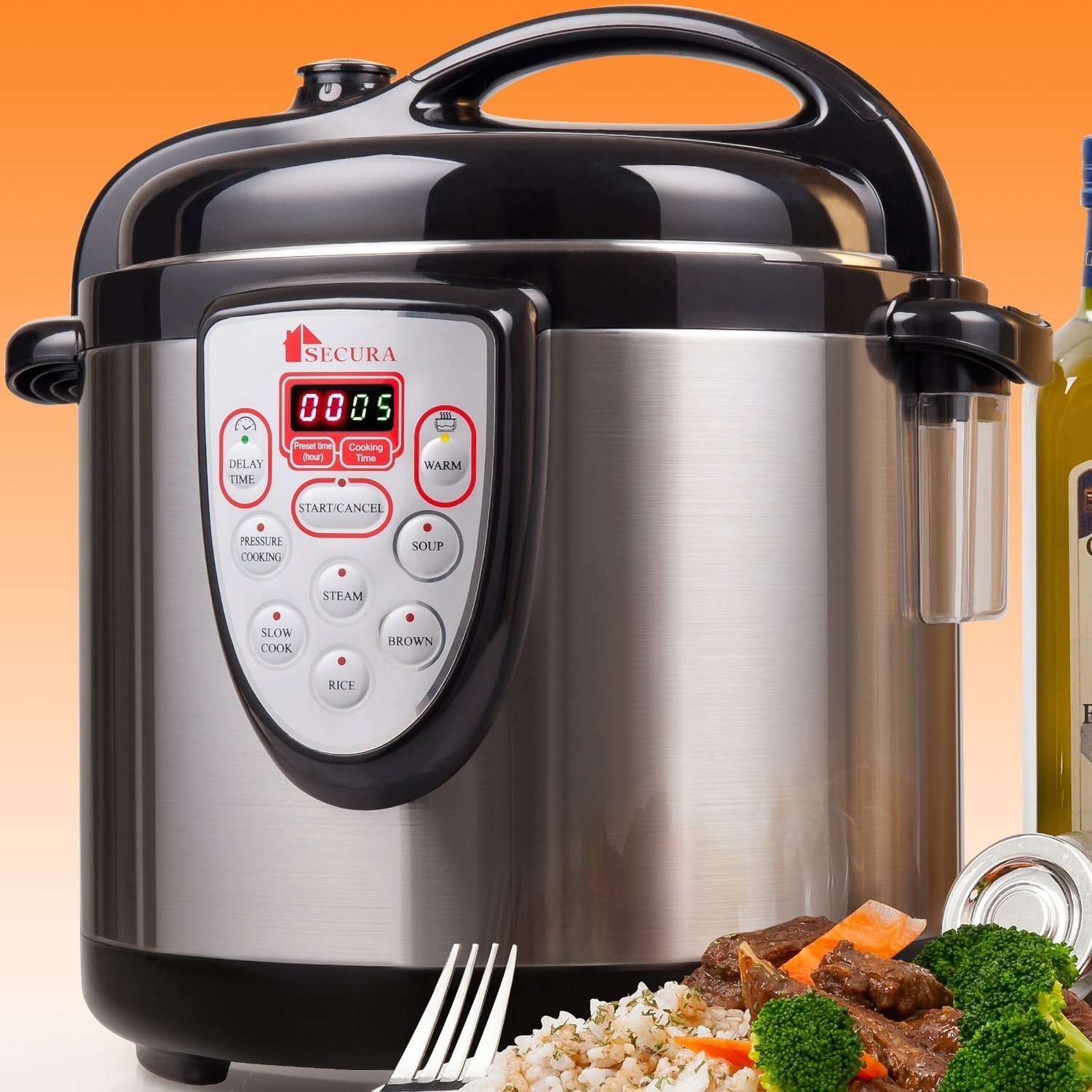 Electric Steam Cooker ~ Secura in electric pressure cooker stainless steel