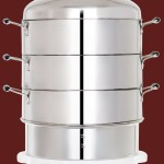 Secura 3-Tier Stainless Steel Food Steamer 6-9 quarts Rice Cooker, w/ Steam360 technology S-324