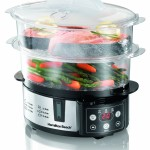 Hamilton Beach Digital 2 Tier Food Steamer 37537