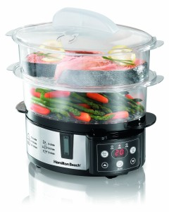 Hamilton Beach Digital 2 Tier Food Steamer