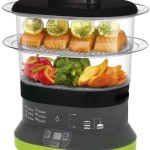 T-fal Balanced Living 2-Tier Food Steamer Compact Electric 4 Quart