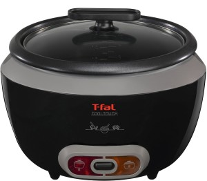 T-fal cool touch stainless steel electric steamer rice cooker