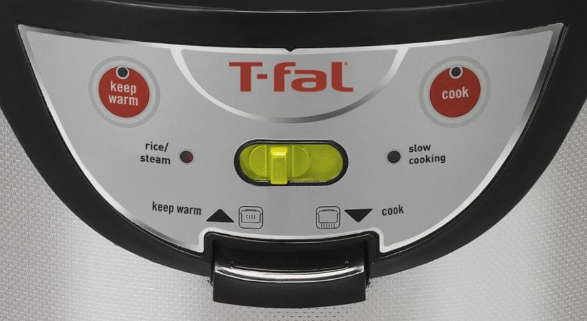 T-fal-balanced living steamer cooker controls