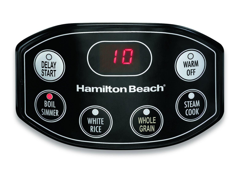 Hamilton Beach Simplicity Deluxe Rice Cooker Steamer ...