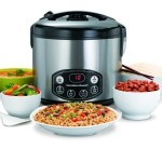 Hamilton Beach digital rice cooker cooks variety of dishes with simmer functon