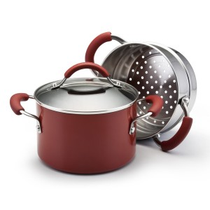 KitchenAid 3-qt saucepot with stainless steel steamer insert