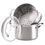 KitchenAid 3 Quart Covered Sauce pot and Steamer Insert Stainless Steel