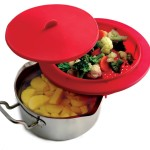 Norpro Red Silicone Food Steamer Insert 10.75