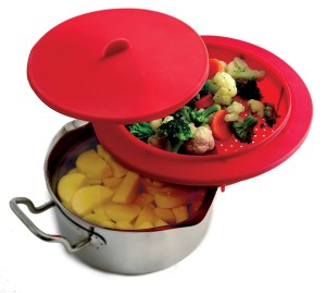 Norpro 206 silicone food steamer insert red