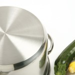 Norpro stainless steel pots bottom exterior layer