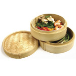 Norpro deluxe 3-piece bamboo steamer set