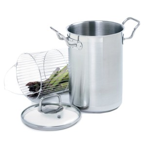 Norpro KRONA 4.5 quart vertical stainless asparagus steamer cooker