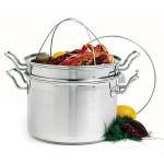 Norpro KRONA 8 quart stainless steel pasta pot steam cooker