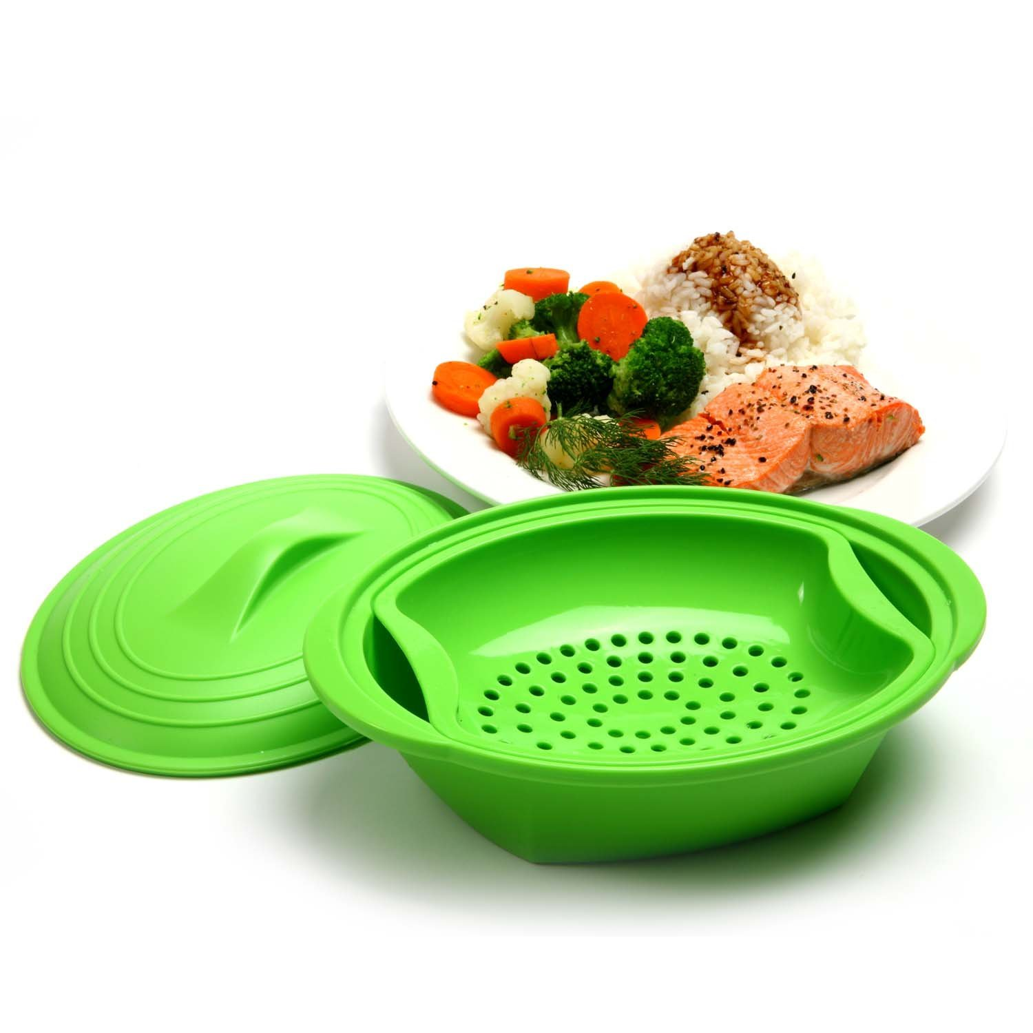 Norpro Microwave Silicone Vegetable Steamer With Insert