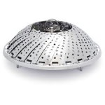 open norpro collapsible stainless vegetable steamer open like a flower