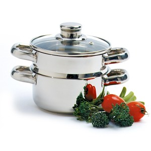 norpro 1 quart stainless steel steamer pot set