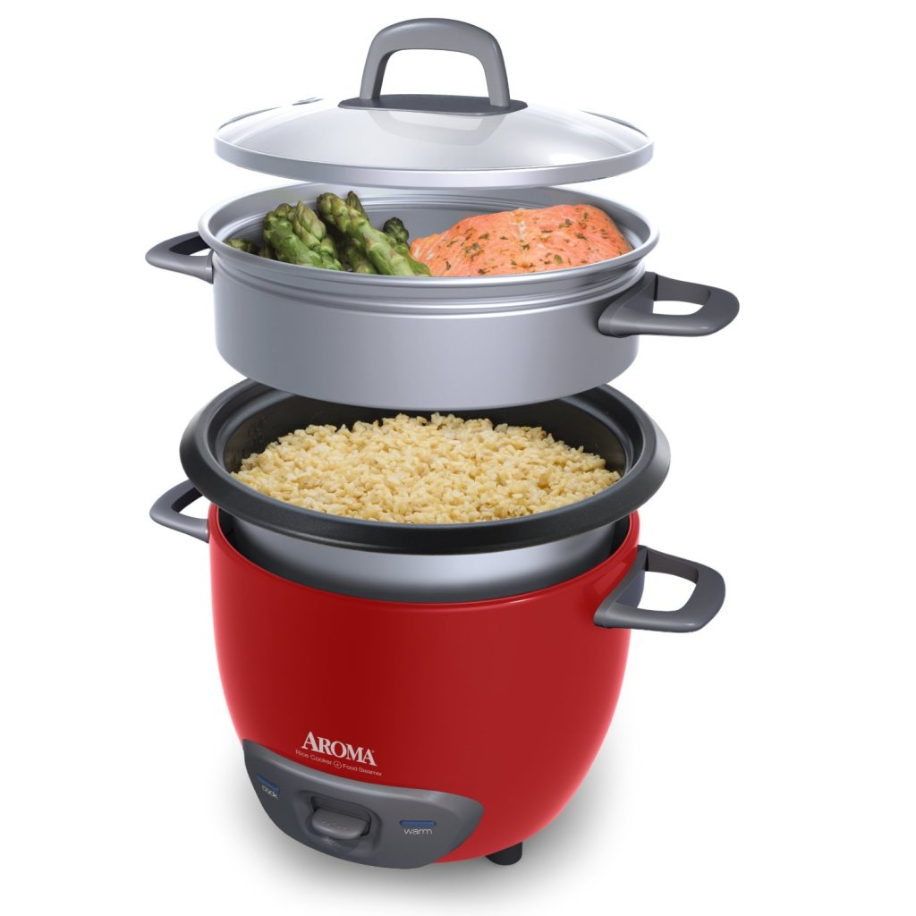 Aroma 14-cup rice cooker and food steamer feature image