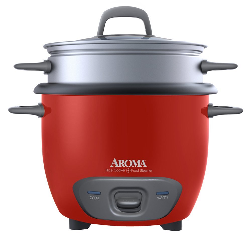 Aroma 14-Cup Rice Cooker & Food Steamer, Red | Best Food