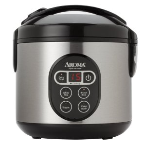 Best Aroma 8-cup digital rice cooker & food steamer stainless steel