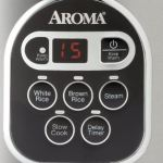 Aroma stainless steel 20-Cup rice cooker & food steamer digital controls