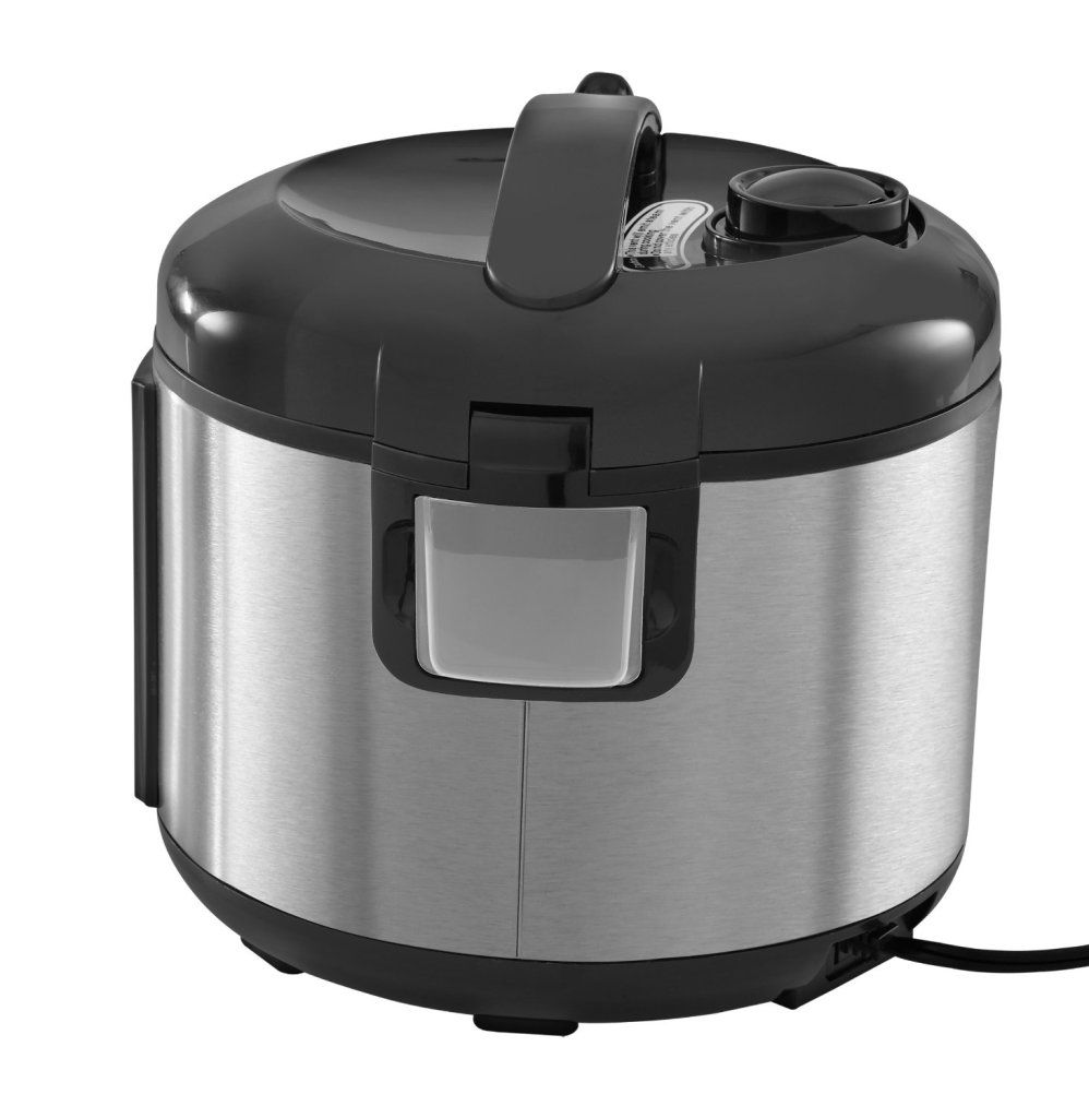 Black & Decker 12-cup rice cooker locking lid condensation catcher
