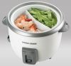 Black & Decker 28-cup white rice cooker and steamer feature image