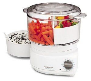 Black & Decker divided food steamer with flavor scenter screen