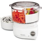 Black & Decker divided food steamer with flavor scenter screen feature image