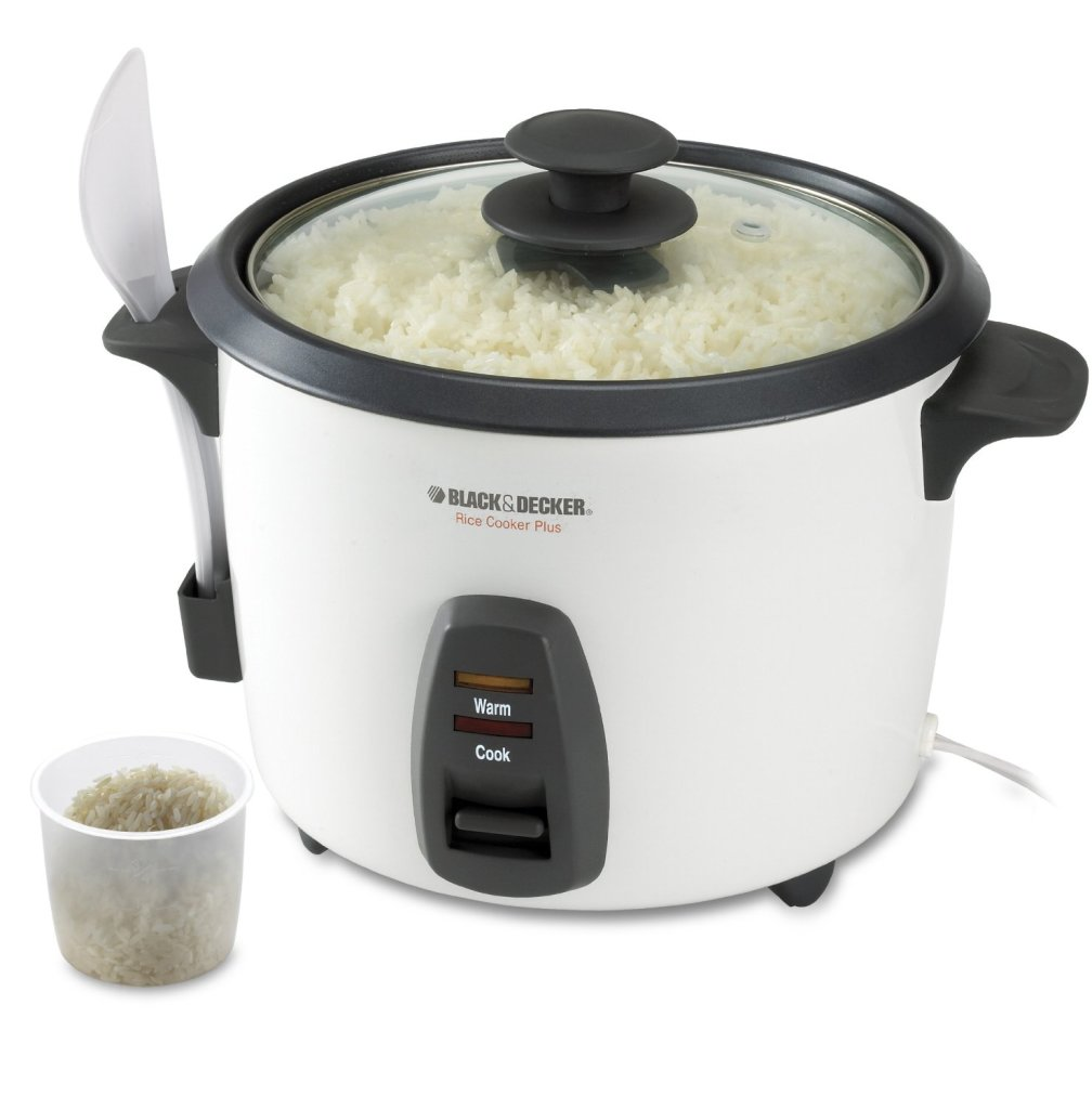 Black & Decker RC436 white 16-cup rice cooker feature image