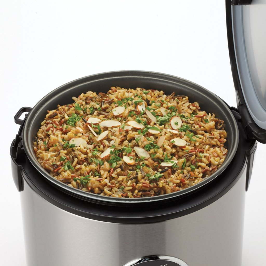 20 cups cooked Brown rice in Aroma digital rice cooker & food steamer