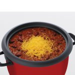 Chili in Aroma 14-cup pot style rice cooker & food steamer