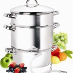 Cook N Home NC-00256 11-Quart Stainless-Steel Steamer Juicer