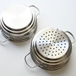 Cook N Home NC-00313 stainless steel double boiler & steamer back sides