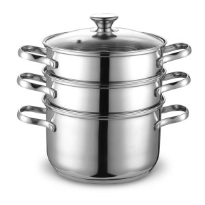 Cook N Home NC-00313 stainless steel double boiler steamer set