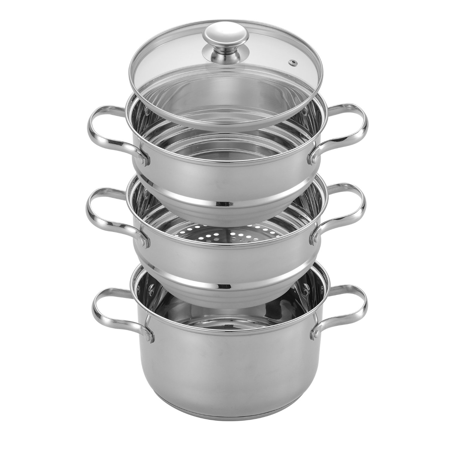 Cooking Pot Steamer ~ Cook n home nc double boiler steamer set stainless