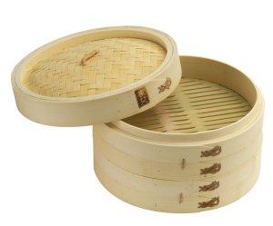 Joyce Chen 26-0013 2 tier 10-inch bamboo steamer set