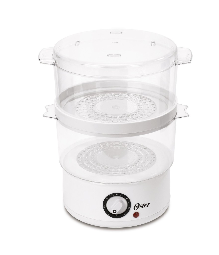 Oster CKSTSTMD5-W 5-quart 2 tier food steamer white