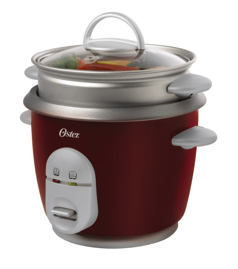 Oster 4722 6-cup cooked rice cooker with steaming tray