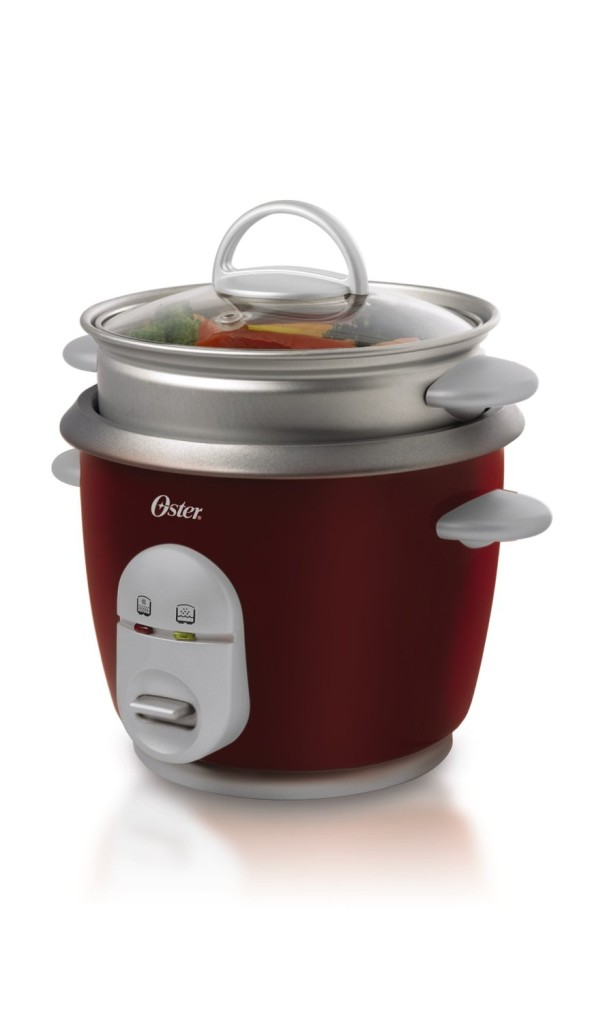 Oster red CKSTRCMS14-R 14-cup rice cooker