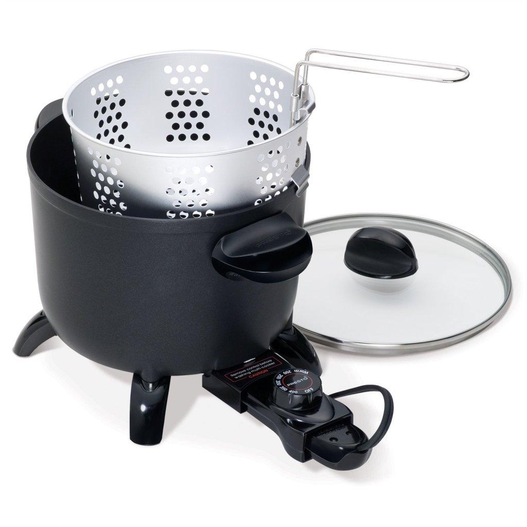 Presto kitchen kettle multi cooker deep fryer steamer feature image