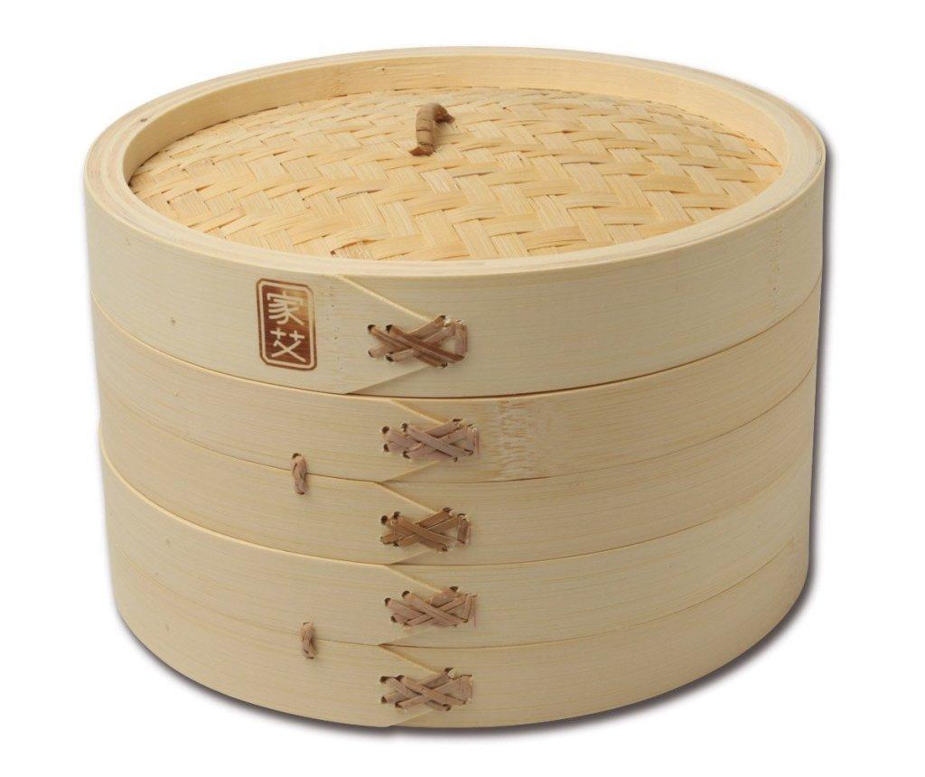best Joyce Chen 26-0013 10-inch bamboo steamer set 4 tier
