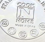 Cook n home pots base with induction, ceramic, gas and electric symbols