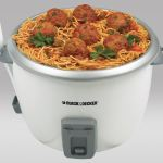cook pasta with meat balls in Black & Decker 28-cup rice cooker