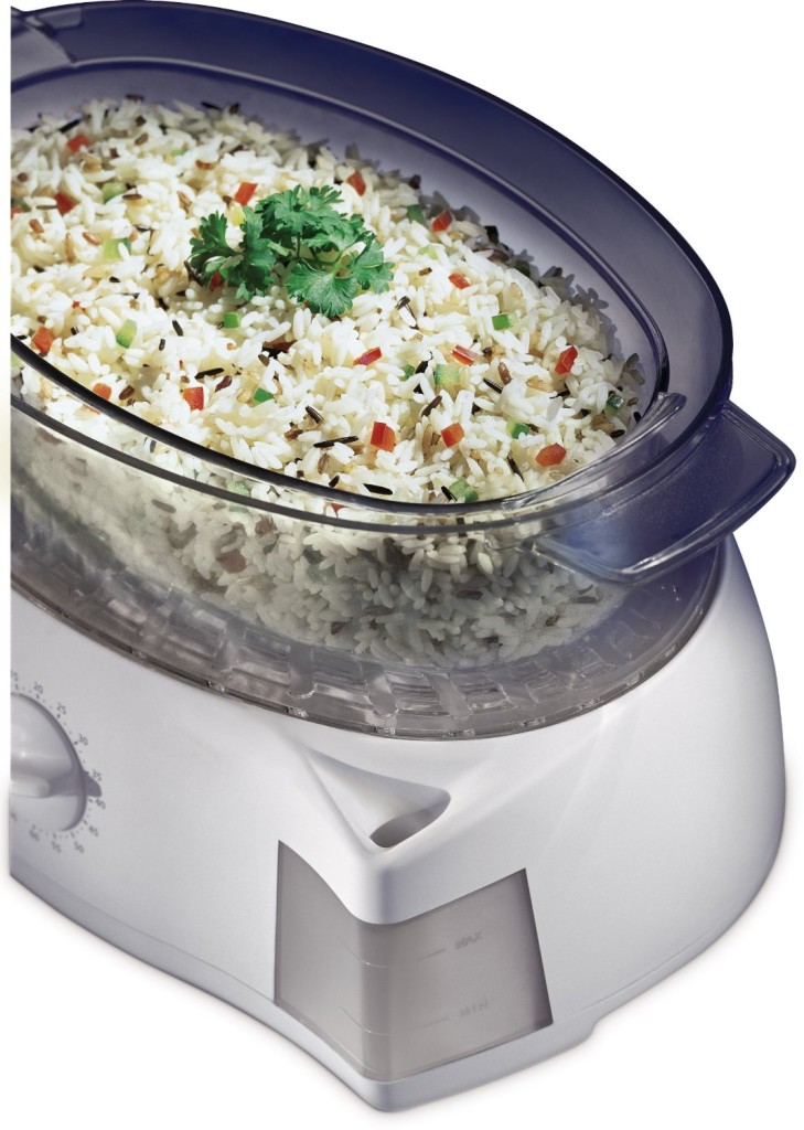 Rice in Oster 5711 mechanical food steamer white