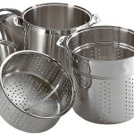 All-Clad 59912 stainless steel 12-quart stock pot with steamer pasta insert feature