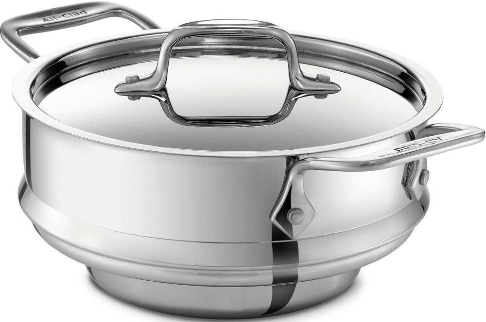 All-Clad 18/10 stainless steel steamer insert with lid