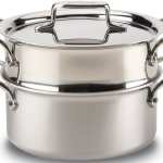 All-Clad Brushed d5 Stainless Steel 3 quart Steamer & Casserole
