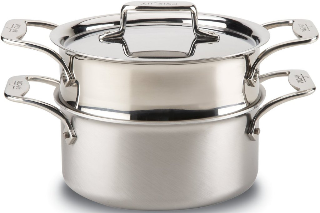 All-Clad Brushed d5 Stainless Steel 5-Ply Steamer Casserole feature